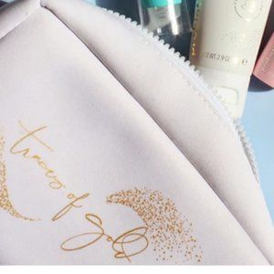 TWO Tula Traces of Gold Shawn Johnson Makeup Bags